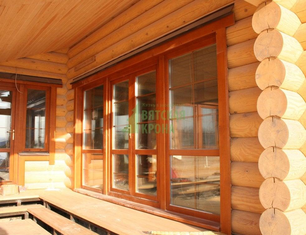 Окна на веранду в деревянный дом